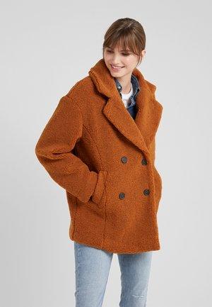 PEACOAT - Short coat - cognac