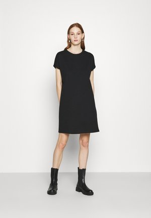 BOXY DRESS - Jersey dress - black