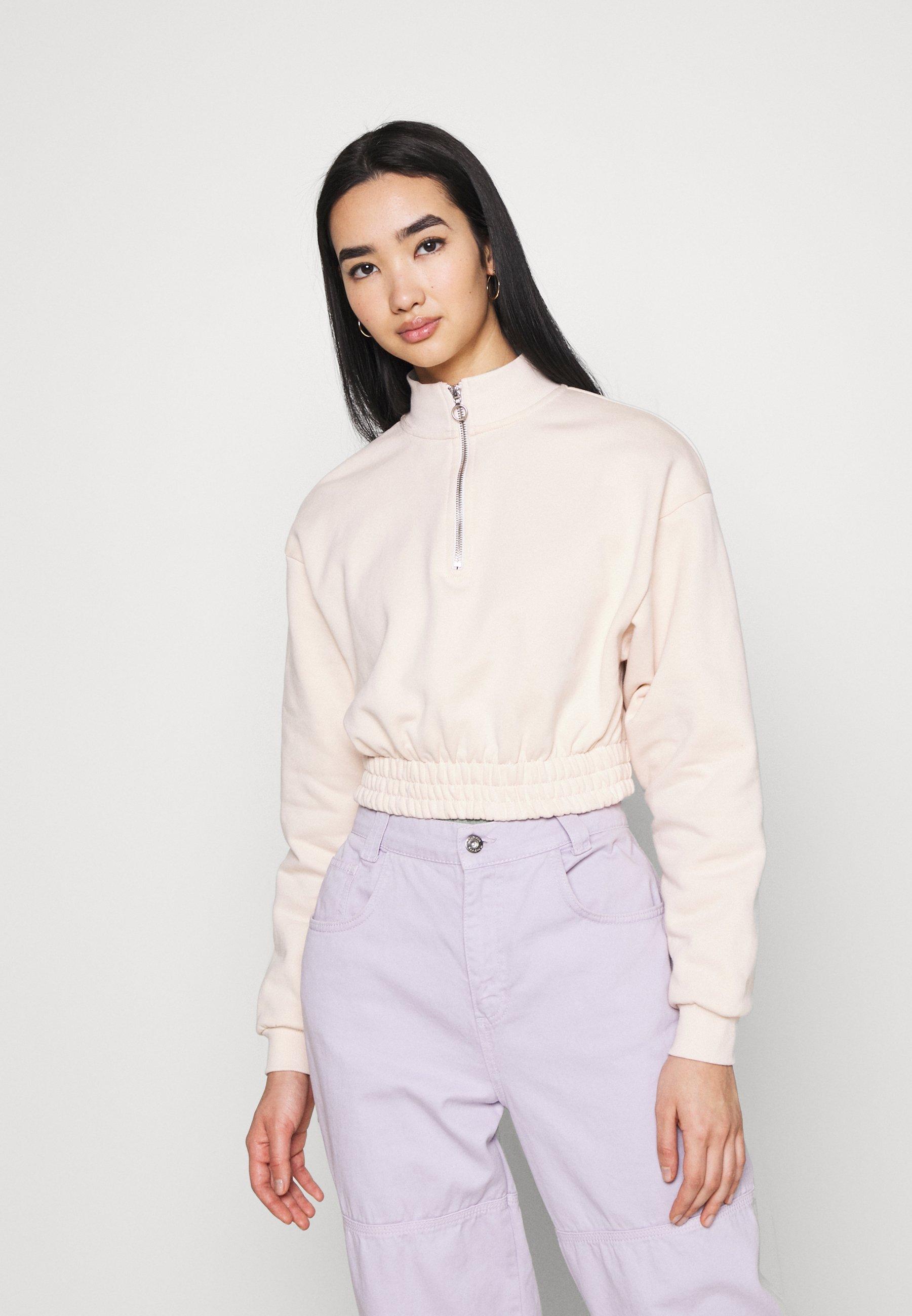 Women HALF ZIP SWEATSHIRT - Sweatshirt