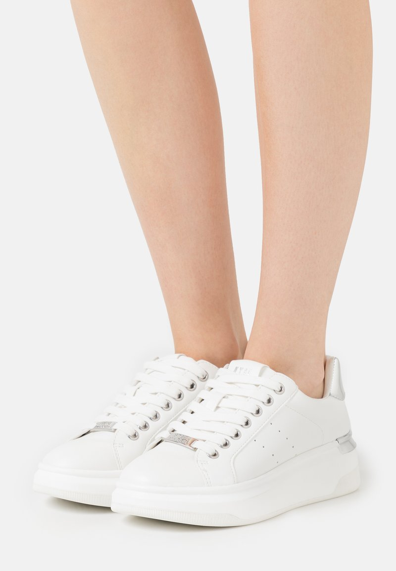 Steve Madden - GLACIAL - Sneakers laag - white/silver