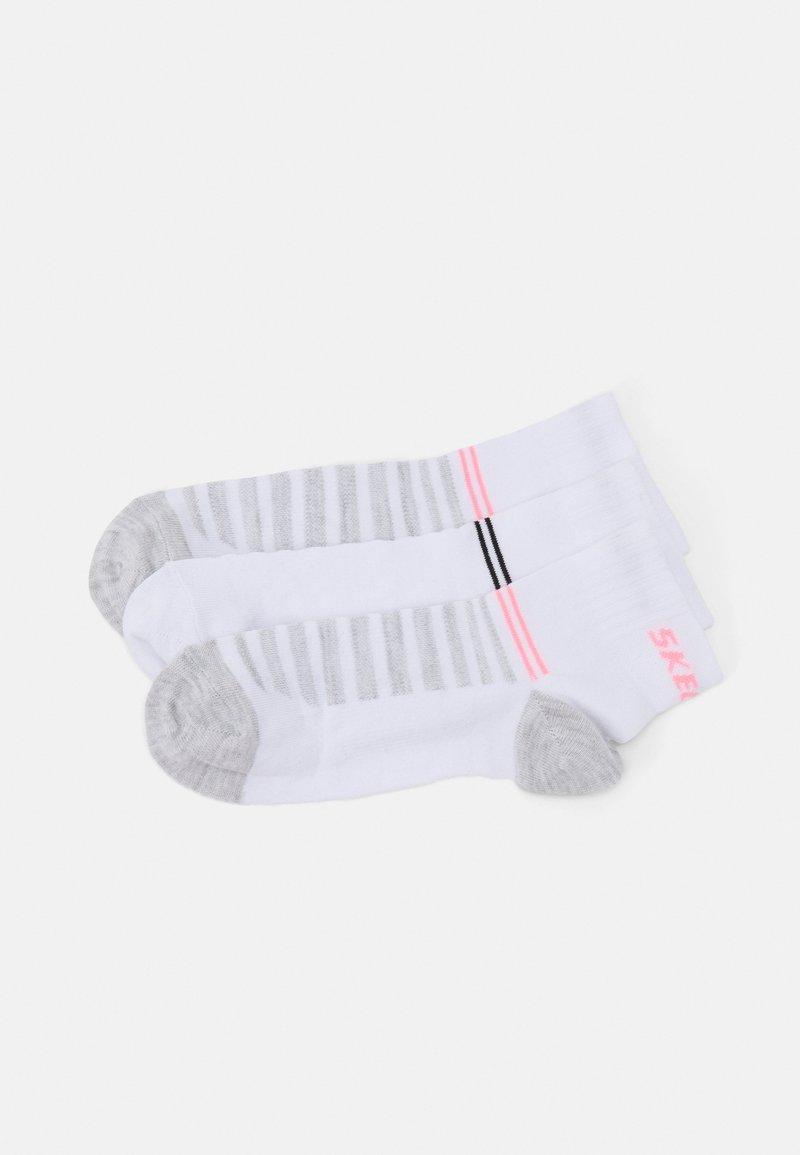 Skechers Performance - BASIC QUARTER VENTILATION 8 PACK - Socks - white mix