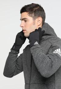 adidas Performance - GLOVES - Gloves - black/black/reflective silver - 1