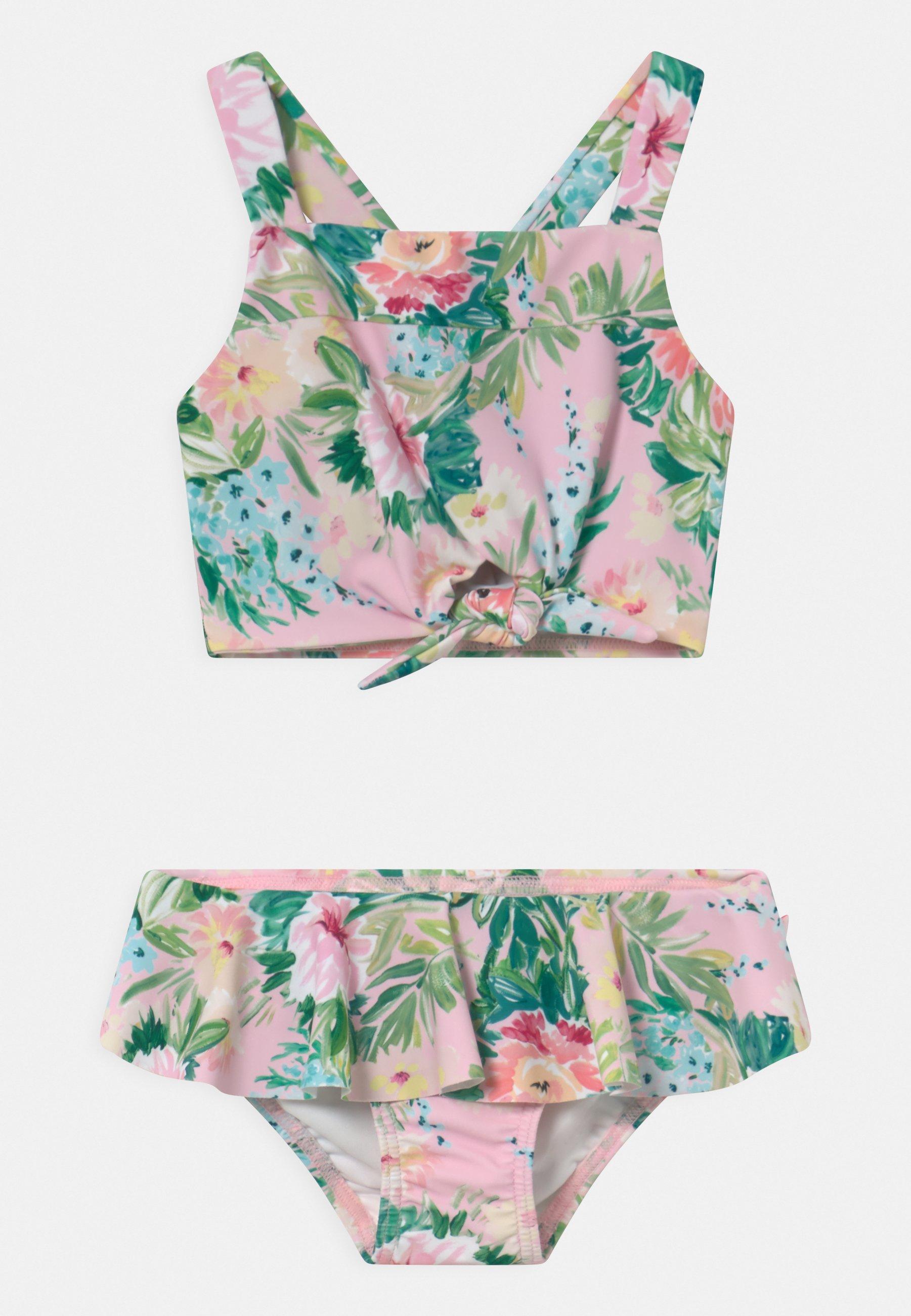 Kinder TIE FRONT TANKINI SET - Bikini