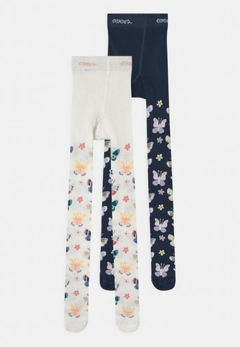 BUTTERFLIES 2 PACK - Tights - blue/off-white