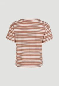 O'Neill - KNOTTED  - Print T-shirt - brown or beige with pink - 5
