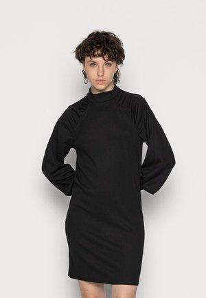 VINEYA HIGH NECK PUFF DRESS - Cocktailjurk - black