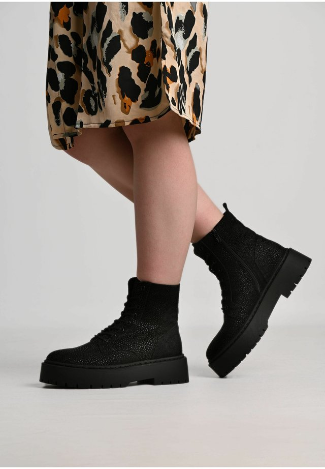 MARY  - Platform ankle boots - black
