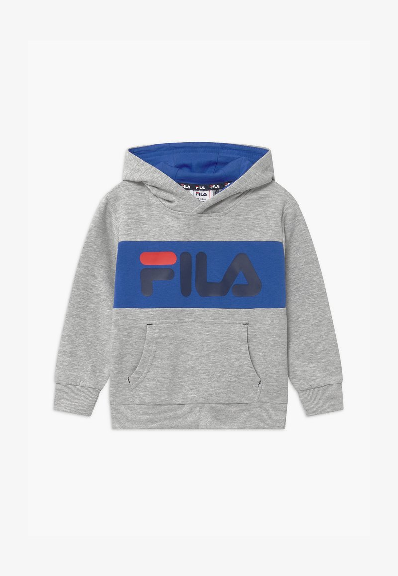 Fila - BEN LOGO HOODY UNISEX - Hoodie - light grey/dazzling blue
