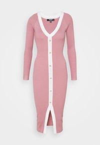 Missguided Tall - BUTTON THROUGH CARDI DRESS - Jumper dress - pink - 0