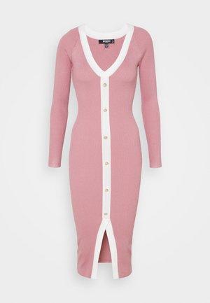 BUTTON THROUGH CARDI DRESS - Vestido de punto - pink