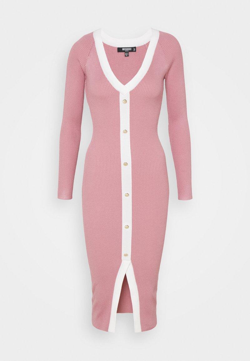 Missguided Tall - BUTTON THROUGH CARDI DRESS - Jumper dress - pink