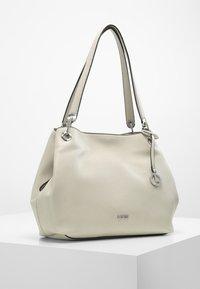 L. CREDI - SHOPPER EBONY - Handbag - stone - 1