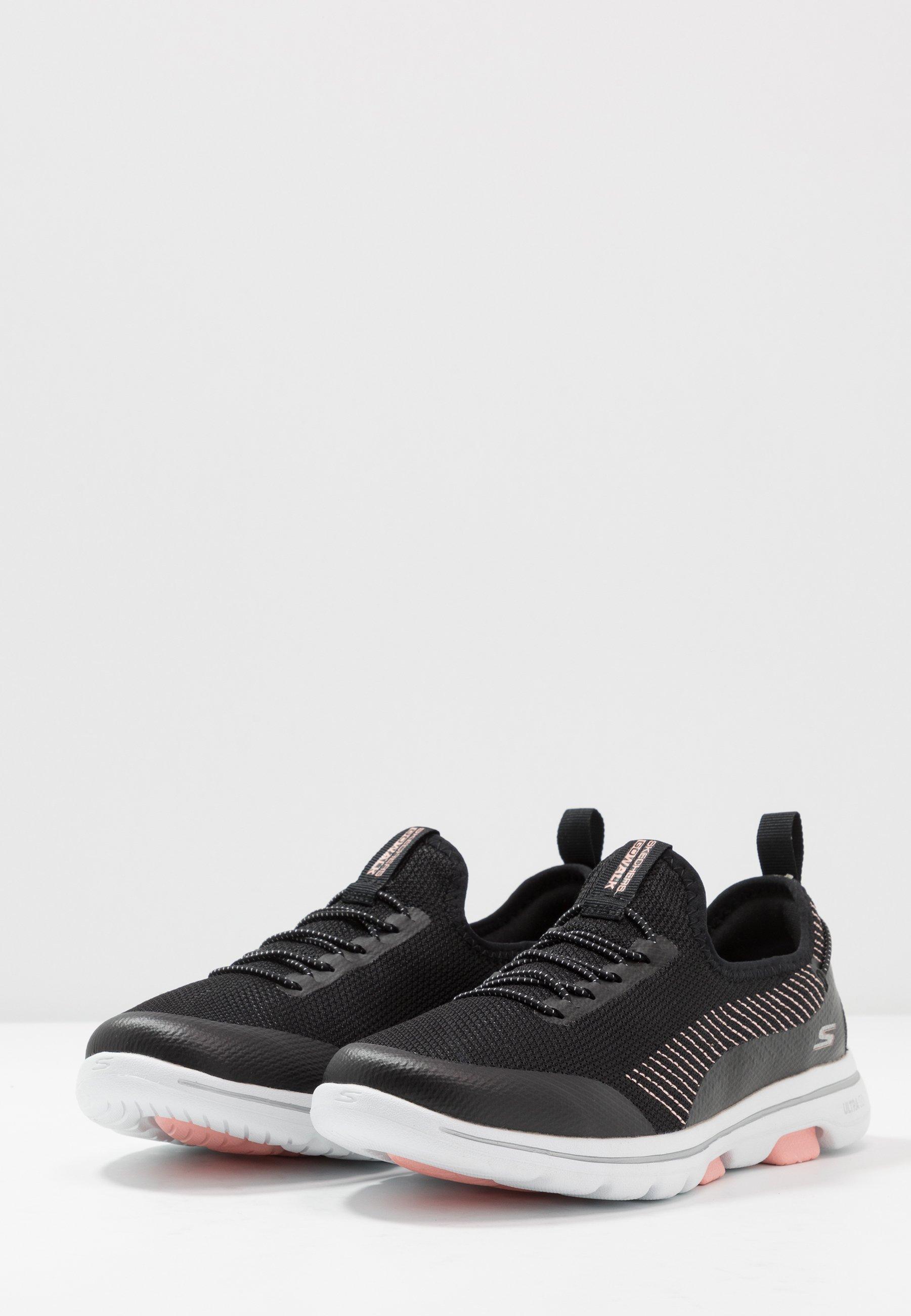 Skechers Performance GO WALK 5 PROLIFIC - Chaussures de course - black/pink - Chaussures de sport femme En ligne