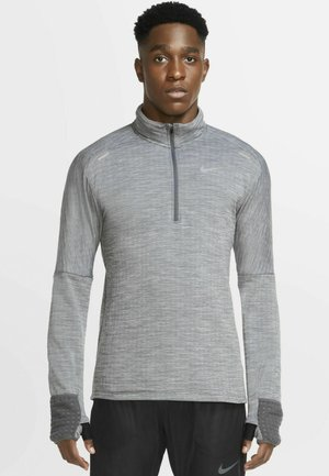 Long sleeved top - iron grey/heather/grey fog