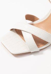 Topshop - SACHA BLOCK ANKLE TIE - Sandales à talons hauts - white - 2