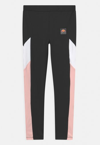 BREEA UNISEX - Leggings - Trousers - black/white/light purple