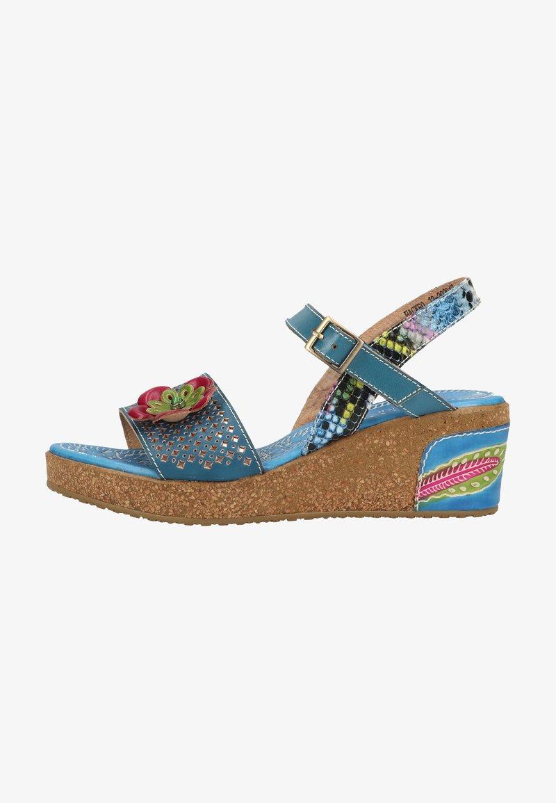 LAURA VITA - Sandály na platformě - bleu