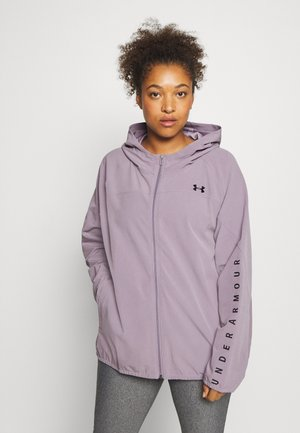 HOODED JACKET - Treningsjakke - slate purple