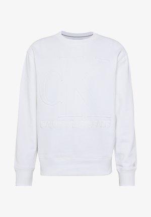 EMBOSSED FASHION CREW NECK - Sweatshirt - bright white