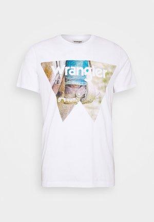 COWBOY COOL TEE - T-shirt print - white