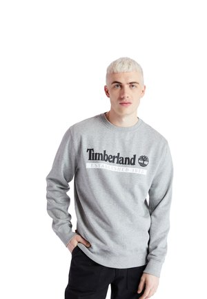 ESTABLISHED 1973 CREW - Bluza - medium grey heather-white