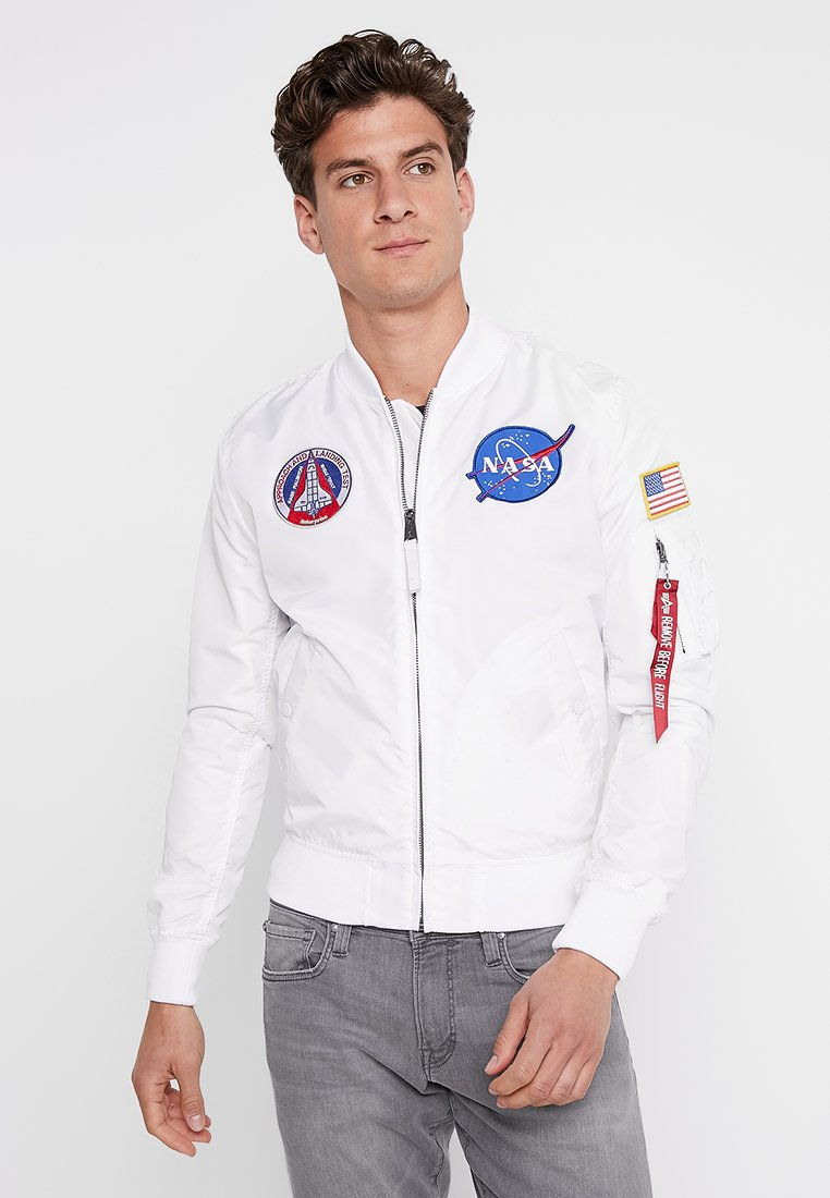 Alpha Industries - NASA REVERSIBLE II - Bomber Jacket - weiß