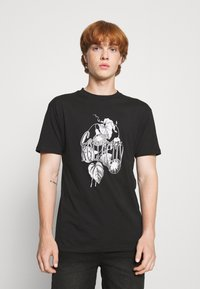 Common Kollectiv - FLORAL UNISEX - Print T-shirt - black - 0
