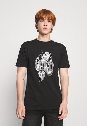 FLORAL UNISEX - Print T-shirt - black