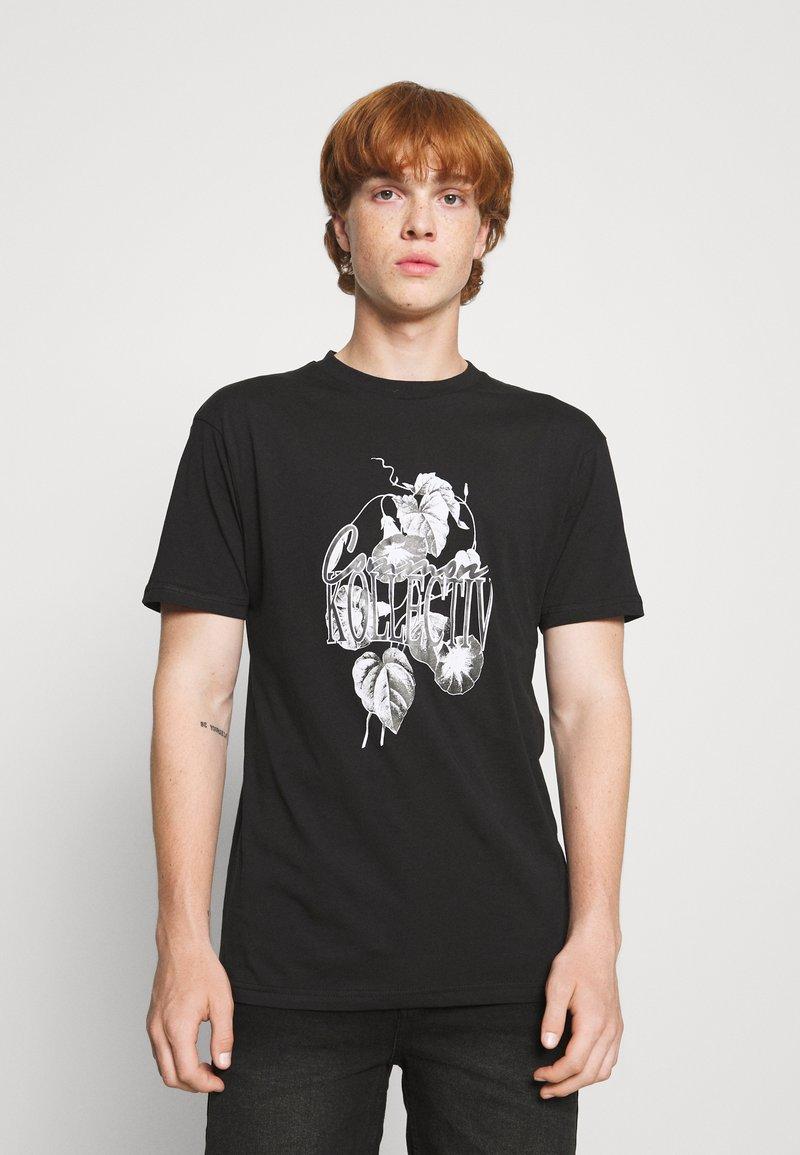 Common Kollectiv - FLORAL UNISEX - Print T-shirt - black