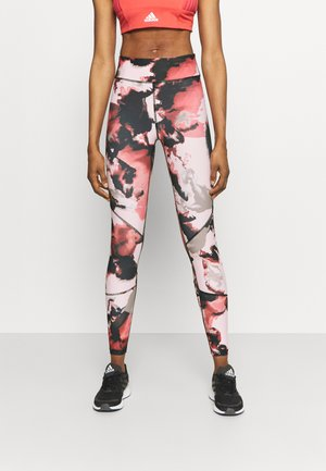 ONPJABINA LIFE TRAIN - Leggings - peachskin/black