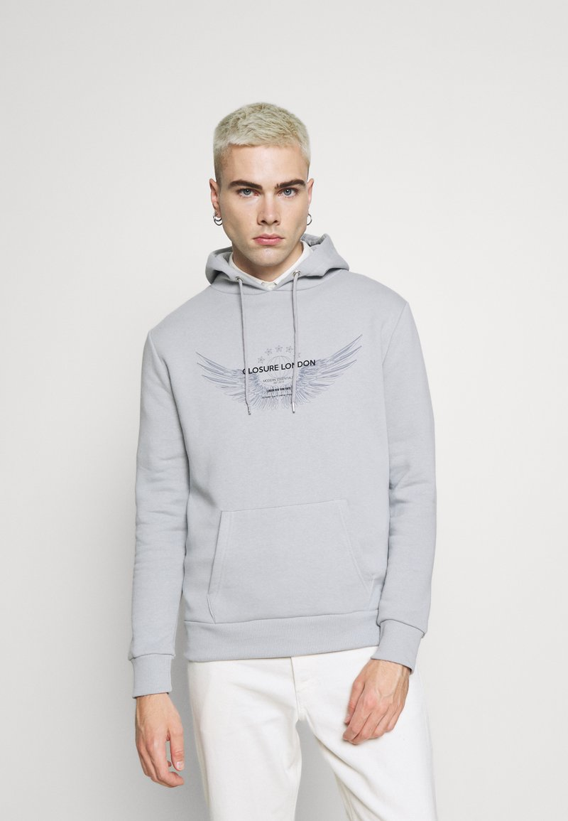 CLOSURE London - WINGED LOGO HOODY - Sweater - ice grey