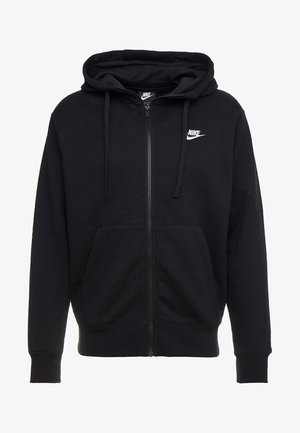 CLUB HOODIE - veste en sweat zippée - black/black/white