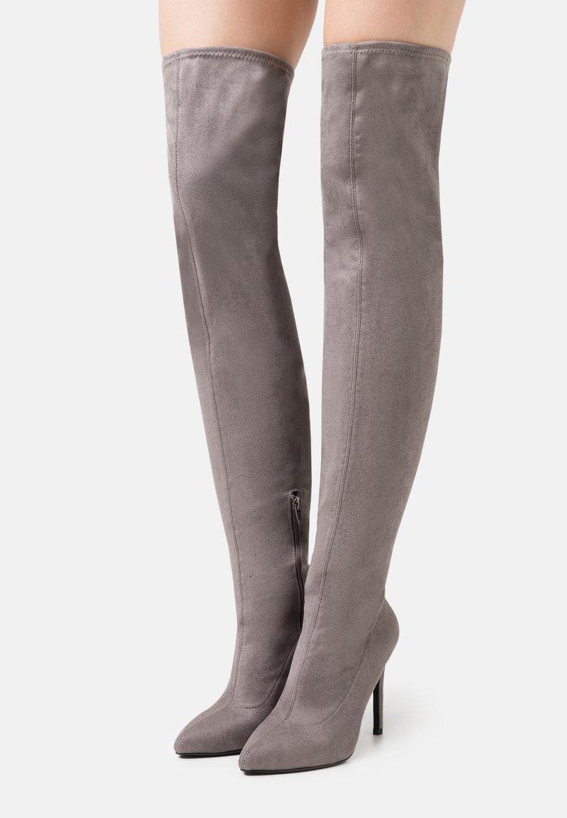 Even&Odd - Laarzen met hoge hak - grey