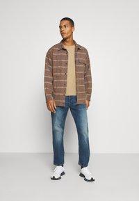Burton Menswear London - LONG SLEEVE CREW 2 PACK  - Long sleeved top - dark blue - 0