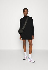 ONLY - ONLVINA HIGHNECK DRESS - Day dress - black - 1