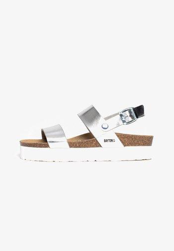 GLADSTONE - Platform sandals - silver