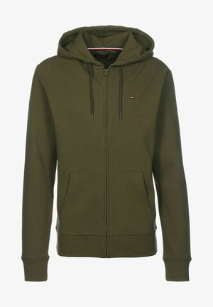 veste en sweat zippée - army green