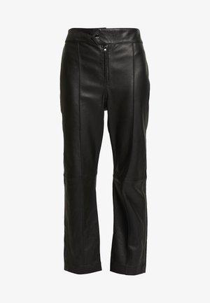 BARBRA - Kožené kalhoty - black