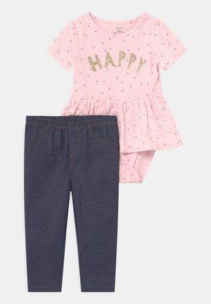 PEPLUM SET - Print T-shirt - pink
