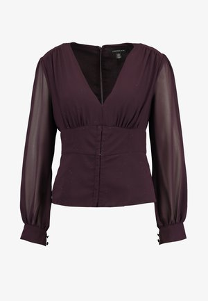 YASMIN FITTED BLOUSE - Blouse - berry
