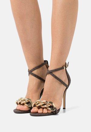 SCARLETT  - High heeled sandals - brown
