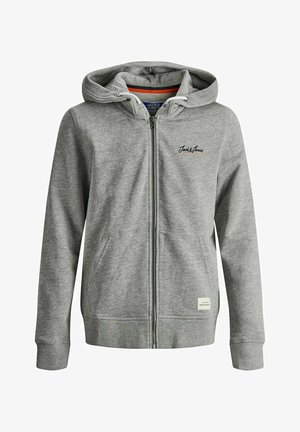 Zip-up hoodie - light grey melange