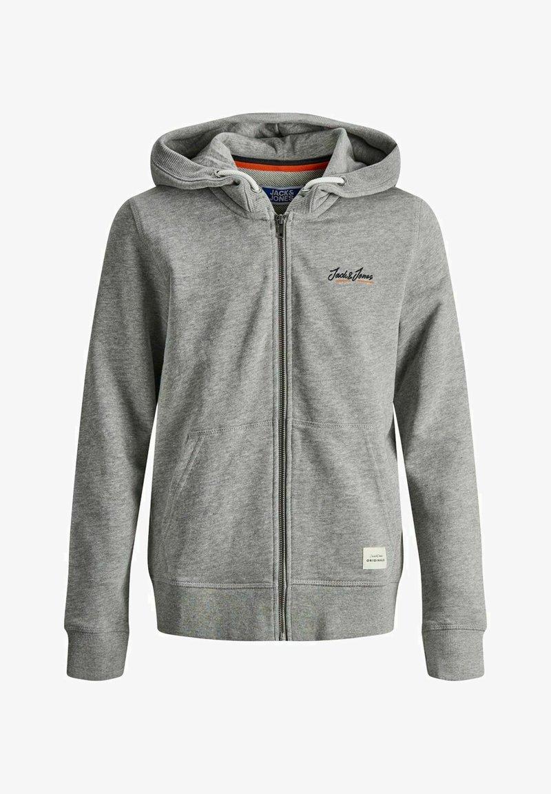Jack & Jones Junior - Zip-up hoodie - light grey melange