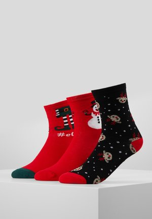 VMELFIE SOCKS GIFTBOX 3 PACK - Socks - black