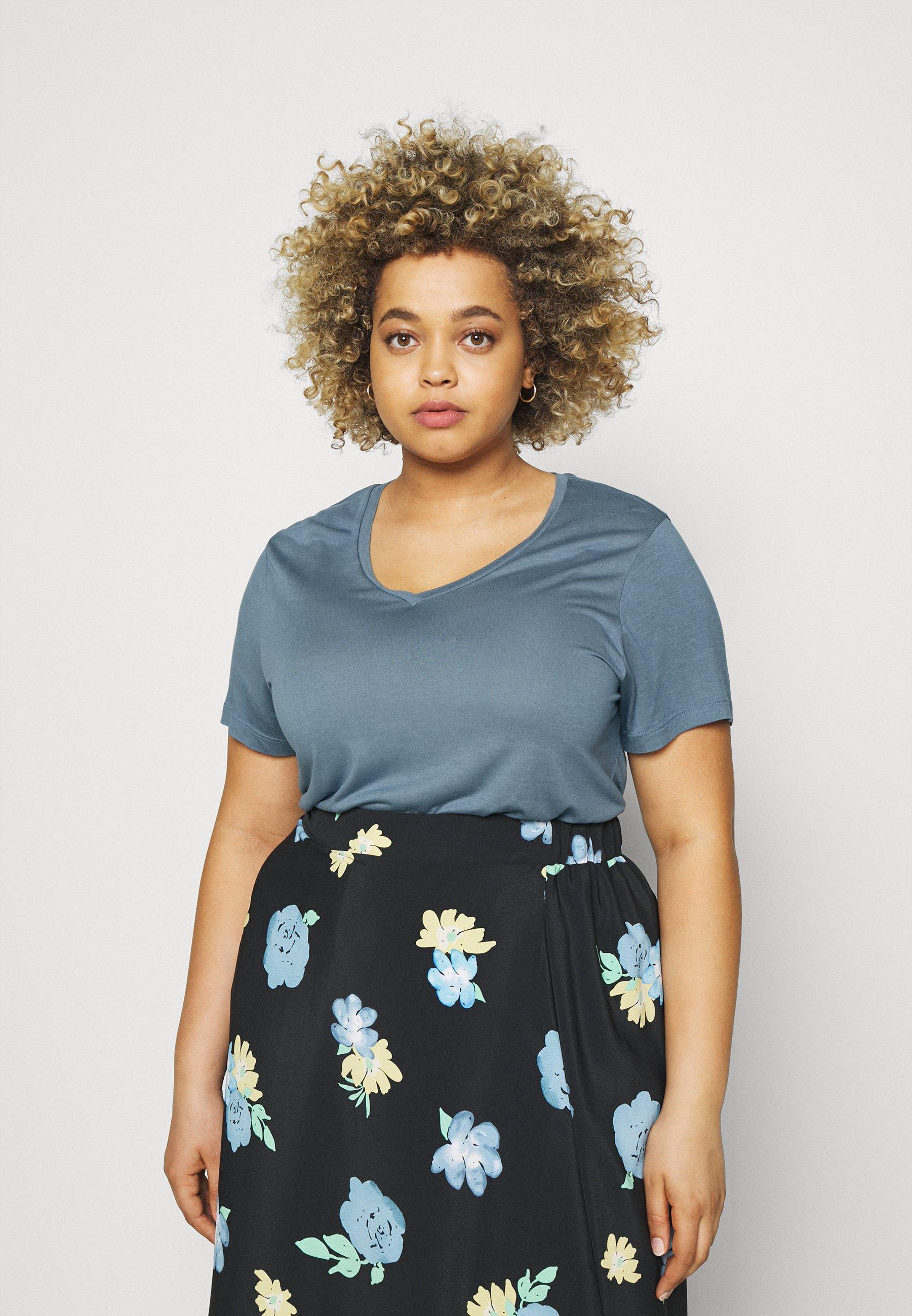 Damen ANELI V NECK - T-Shirt basic