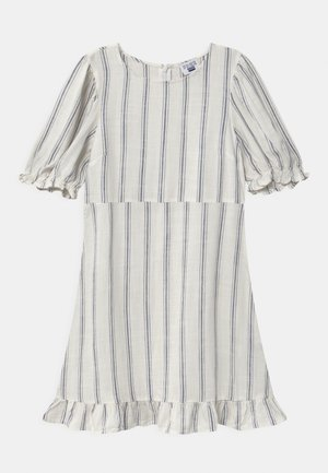 PARIS SHORT SLEEVE DRESS - Day dress - vanilla/blue