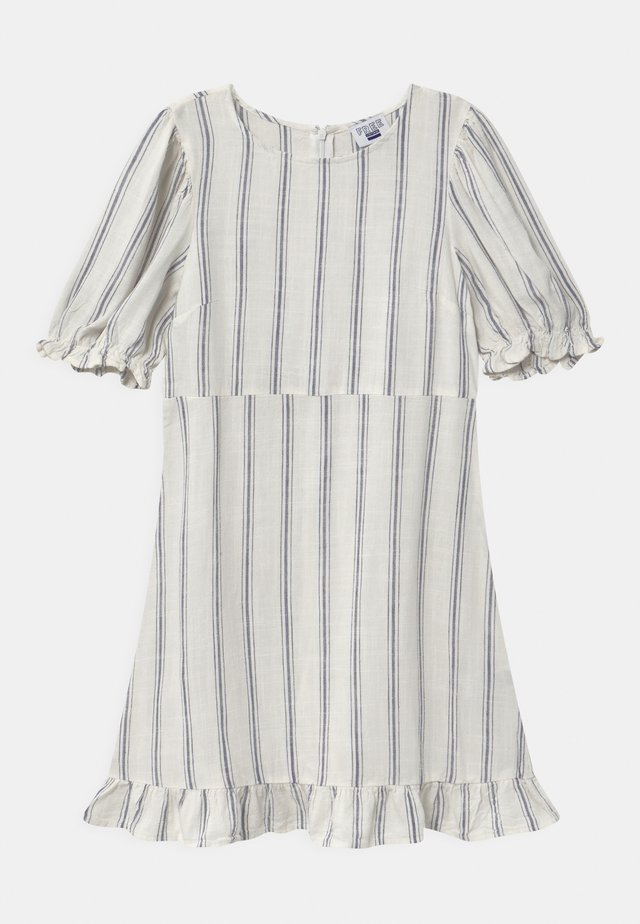 PARIS SHORT SLEEVE DRESS - Denní šaty - vanilla/blue