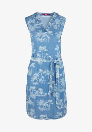 Denim dress - light blue aop