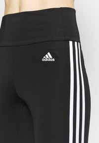 adidas Performance - 3/4 sportovní kalhoty - black/white - 4