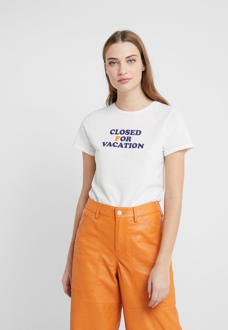 CLOSED - Print T-shirt - ivory
